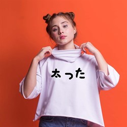 """Фуфайка короткая """"Популярный японский мем"""", унисекс"""